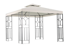 Charles Bentley 3m x 3m Luxury Steel Gazebo Awning - Cream