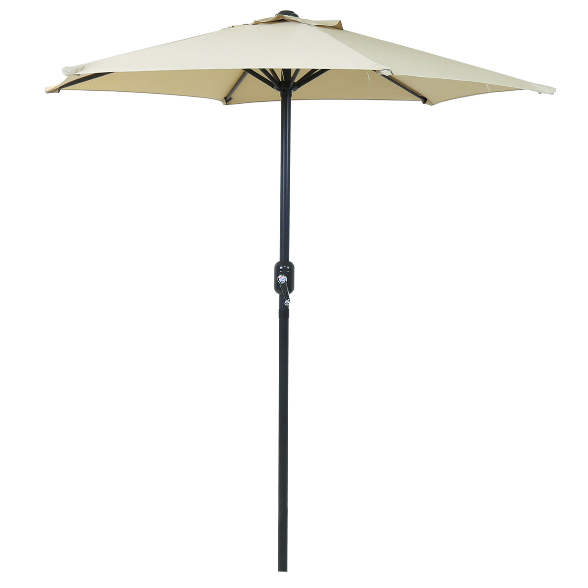 Charles Bentley 2M Garden Parasol Umbrella with Crank Function - Beige