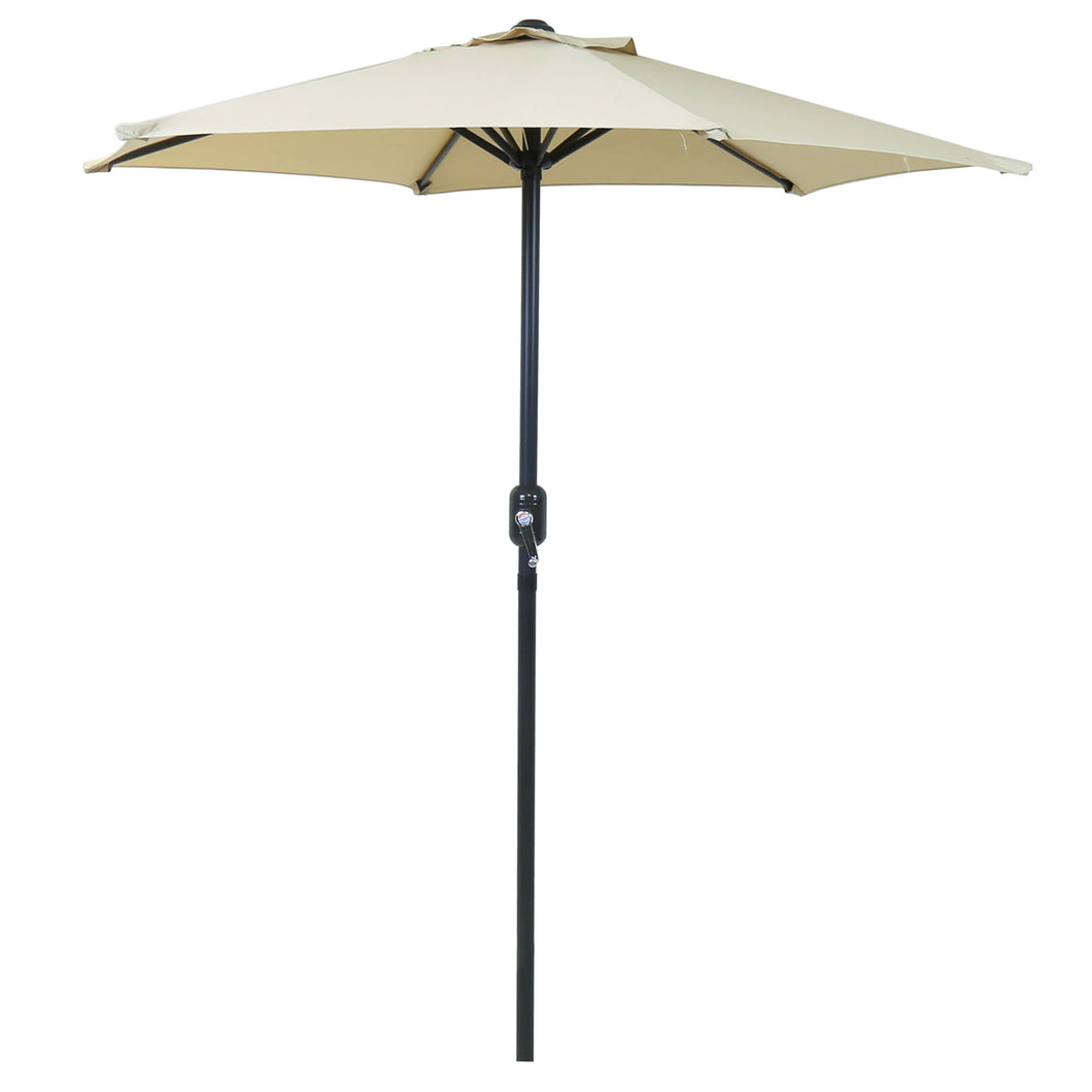 Charles Bentley 2M Garden Parasol Umbrella - Crank Function - Beige