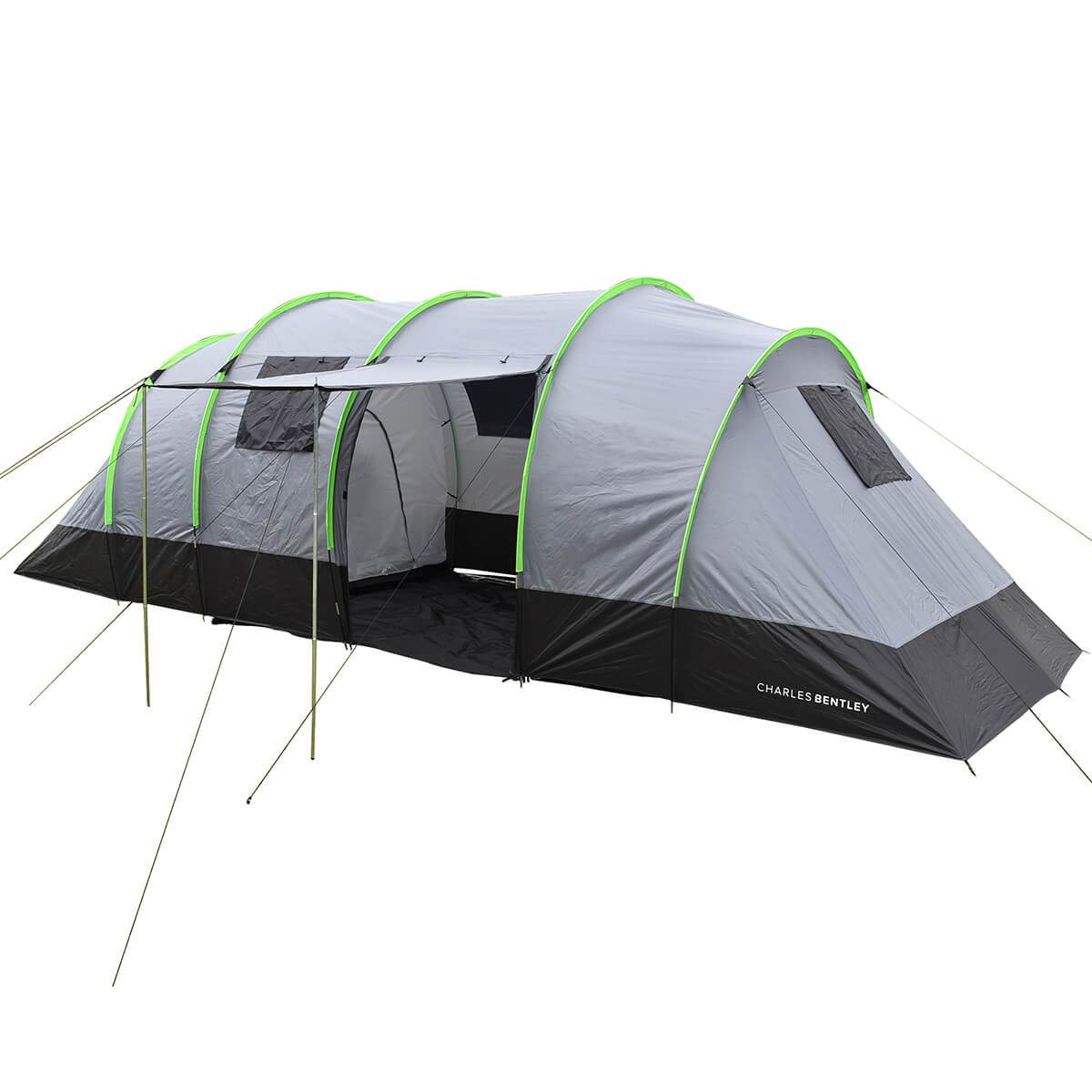 Charles Bentley 8 Man Family Tunnel Tent & Awning