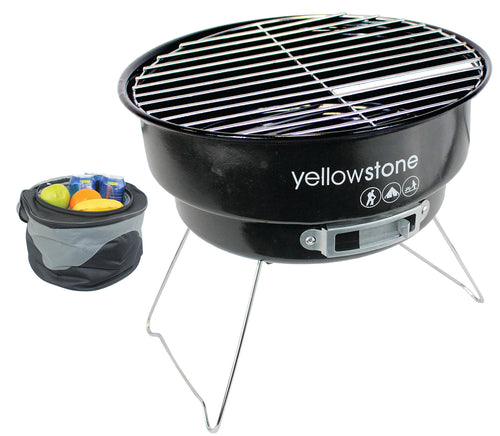 Yellowstone Folding Camping BBQ with Cooler Bag