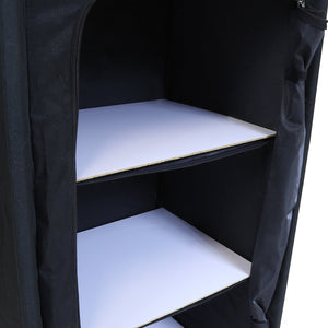Charles Bentley Folding Camping Storage Cupboard with 3 Shelves