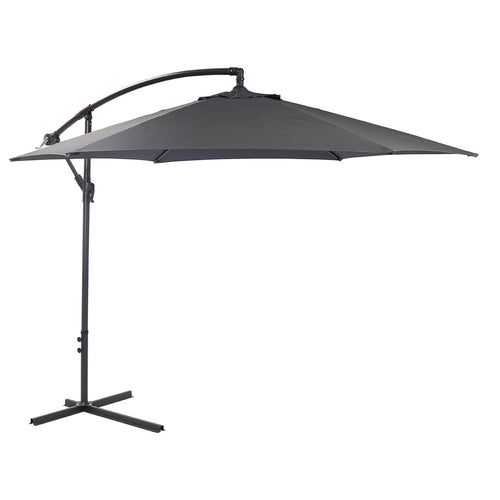 Charles Bentley Garden 3m Round Cantilever Parasol Umbrella - Grey