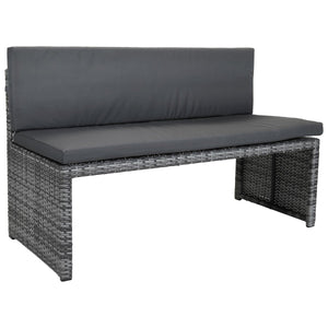 Charles Bentley Rectangular Rattan Dining Set - Grey