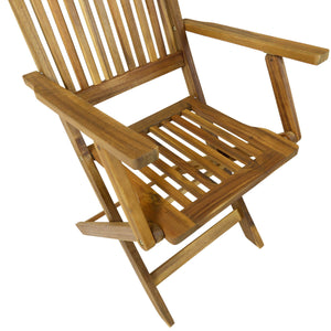 Charles Bentley Pair of Wooden Folding Outdoor Armchairs