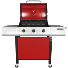 Charles Bentley Stainless Steel 3 Burner Gas BBQ Grill - Red