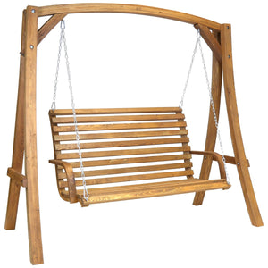 Charles Bentley Wooden 2-3 Seater Garden Swing Seat Bench