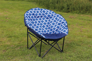 Quest Easy Range Large Moon Chair in Blue - Pair