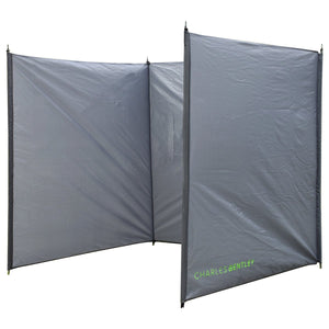 Charles Bentley 4 Pole Tall Camping Windbreak Beach Shelter - Grey