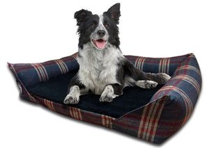 GB Pet Beds Country Check 7cm Memory Foam Sofa Bed