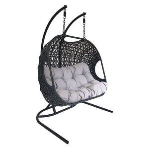 Charles Bentley Double Rattan Swing Chair