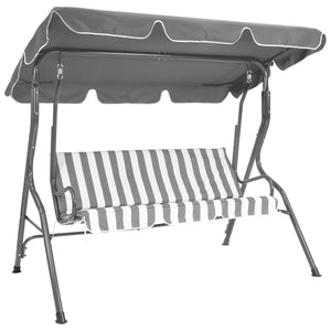 Charles Bentley 2 Seater Swing Seat Hammock Chair - Grey Striped