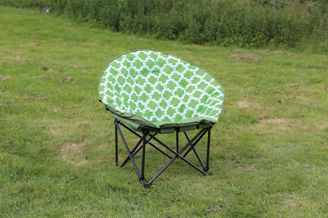 Quest Easy Range Large Moon Chair in Green - Pair
