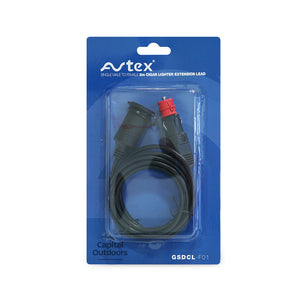 Avtex Cigar Lighter Extension Lead 2m Male to Female