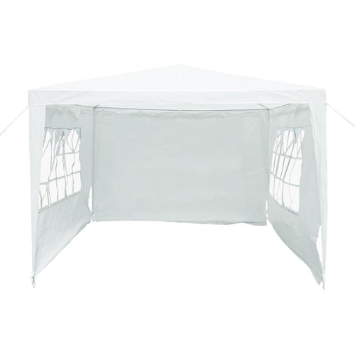 Charles Bentley 3m x 3m Pop Up Garden Gazebo with Sidewalls - White