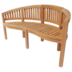 Charles Bentley Solid Teak Garden Bench- 3 Seater