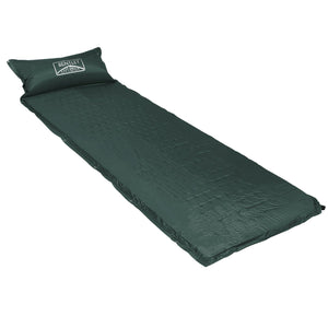 Charles Bentley Self Inflating Camping Mat With Pillow - Dark Green