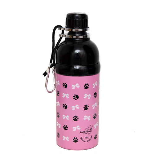 Long Paws Dog Travel Water Bottle - Princess Design 500ml