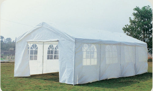 Charles Bentley Premium 8m x 4m Large Wedding/Party Gazebo - White
