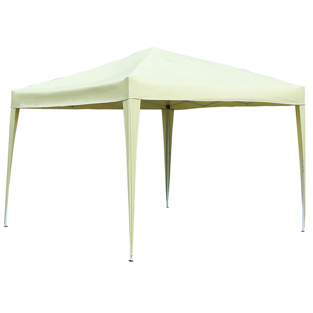 Charles Bentley 3m x 3m Portable Pop Up Garden Gazebo Awning - Beige