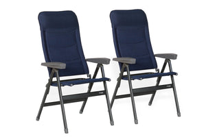 Westfield Advancer XL Folding Chair in Blue - Pair