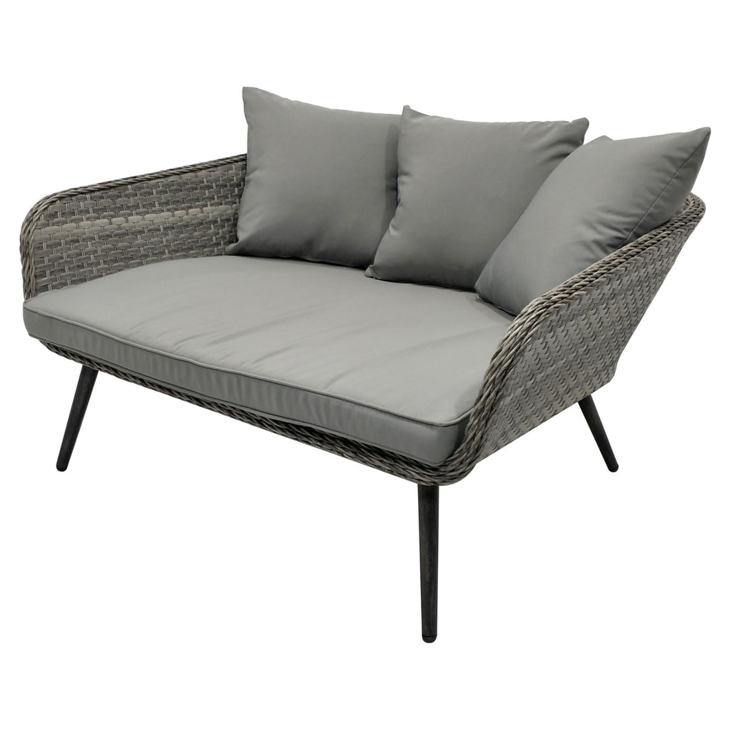 Charles Bentley Rattan Cuddle Chair - In Grey