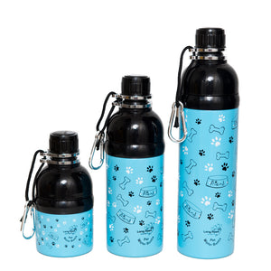 Long Paws Dog Travel Water Bottle - Friend Design - 250ml to 750ml