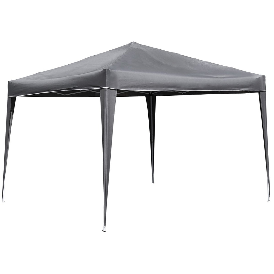 Charles Bentley 3m x 3m Portable Pop Up Garden Gazebo Awning - Grey