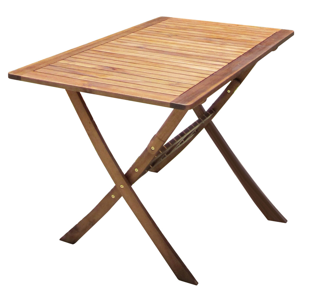 Charles Bentley Wooden Folding Rectangular Patio Table