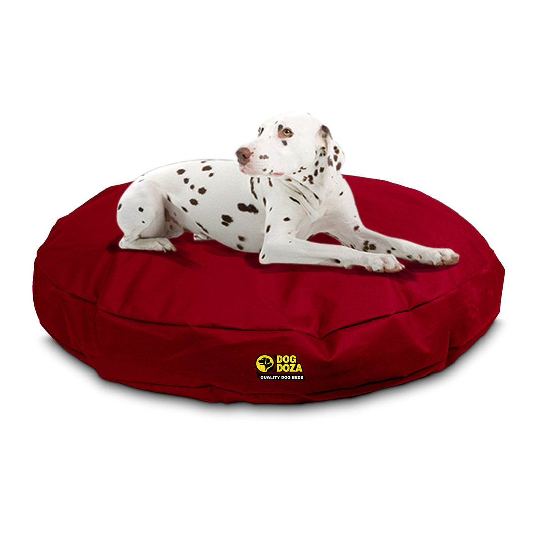 Dog Doza Round Waterproof Memory Foam Crumb Dog Bed