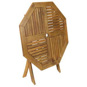 Charles Bentley Octagonal Hardwood Patio Set - 5 Piece