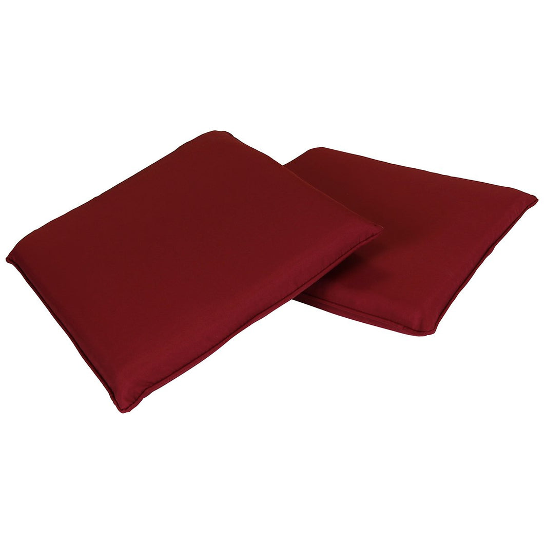 Charles Bentley Pair Of Square Dining Chair Cushions - Red