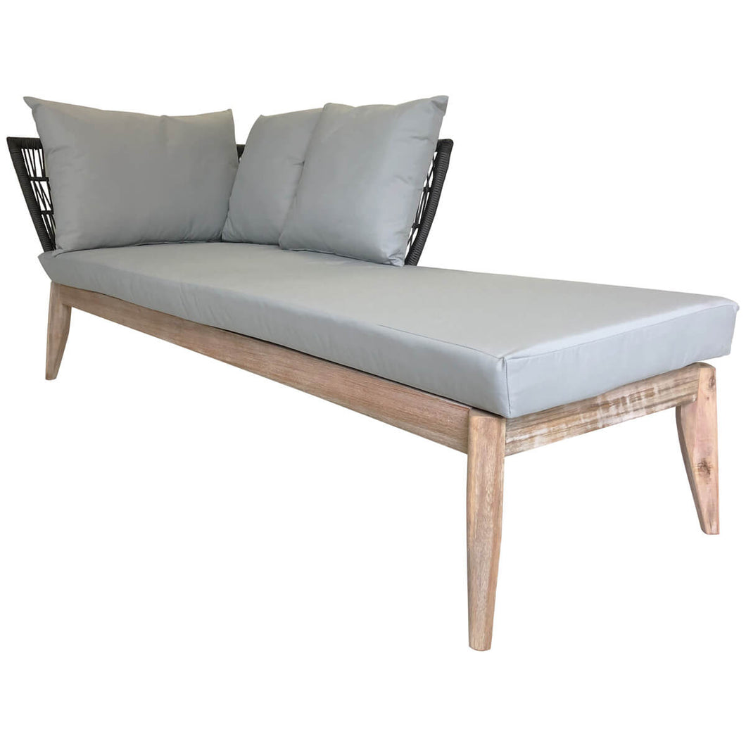 Charles Bentley Mixed Material Fisherman Chaise Lounge