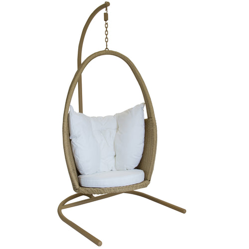 Charles Bentley Open Top Rattan Garden Patio Swing Chair