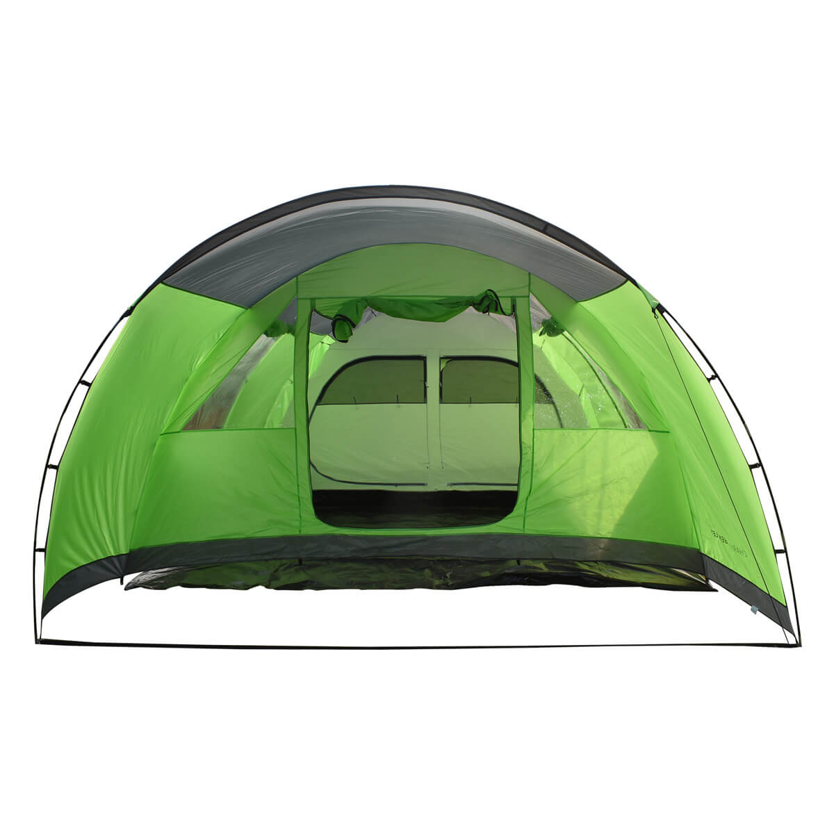 Charles Bentley 6 Person Camping Tunnel Tent - Green with ...