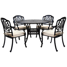 Charles Bentley Premium Furniture Cast Aluminium 4 Seater Outdoor Dining Set