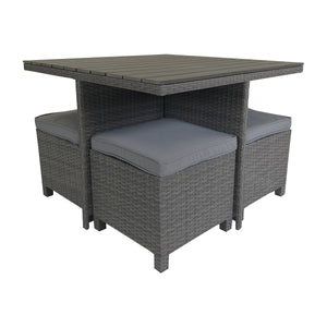 Charles Bentley Rattan & Polywood Cube Dining Set