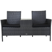 Charles Bentley Amalfi Rattan Companion Love Seat - Grey