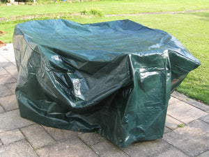 Charles Bentley Large 6-8 Seater Oval Tarpaulin Furniture Cover - Green