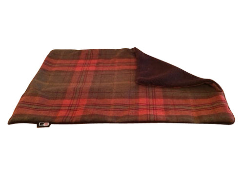 GB PetBeds Sherpa Fleece Check Pet Blankets