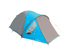 Yellowstone Ascent 4 Man Camping Tent - Blue