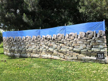 OLPRO Stone Wall Camping Windbreak 5 Wooden Poles