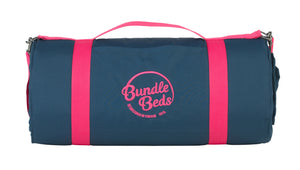 Bundle Beds Self Inflating Mattress and 15-tog Duvet - Navy and Pink