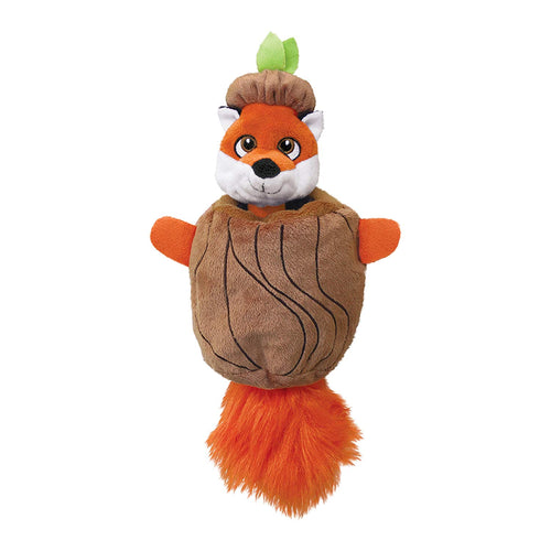 Kong Puzzlements Hiderz Fox Dog Toy - Various Sizes