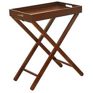 Charles Bentley Folding Wooden Serving Butler Tray Side Table