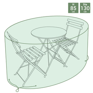 Charles Bentley Small Round Tarpaulin Furniture Set Cover Bistro Set Cover