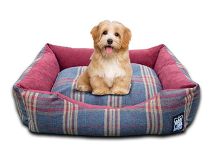 GB Pet Beds Mayfair Check Dog Bed Settee