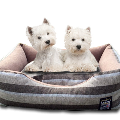 GB Pet Beds Chatsworth Stripe Dog Bed Settee