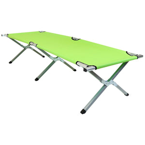 Charles Bentley Lightweight Portable Folding Camp Bed - Green