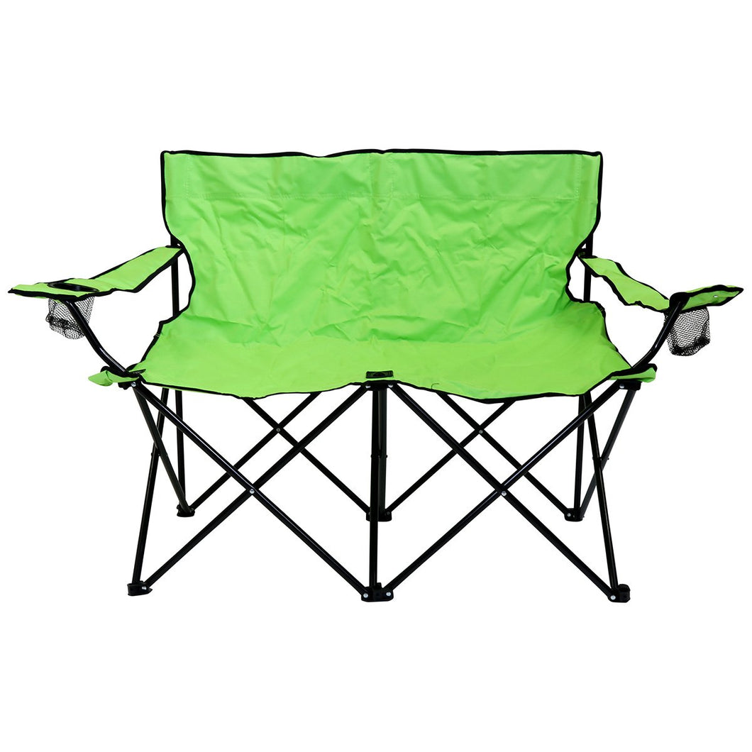 Charles Bentley Double Folding Camping Chair - Green